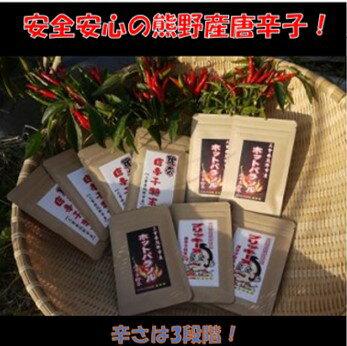 熊野市産唐辛子「辛」セット