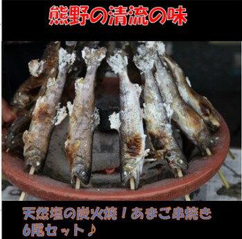 炭火焼・天然塩使用 あまご串焼き 6尾入