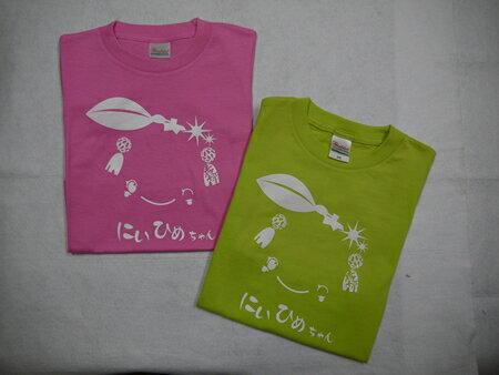 【ふるさと納税】お子様用【新姫ちゃんTシャツ130cm】 ピンク・グリーン各1枚 数量限定12セット