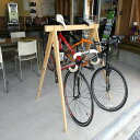 【ふるさと納税】国産桧の自転車ラック宿輪木とヘルメットスタン...