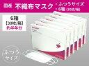 【ふるさと納税】シャープ製不織布マスク ふつうサイズ 30枚入×6箱 sh-02