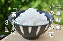 【ふるさと納税】I68三重県産いのちの壱 斎王米 3キロ