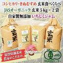 【ふるさと納税】平成29年産新米!玄米食べくらべセット+いちじくジャム※着日指定はできません。
