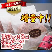 AF01溢れる肉汁で大人気!近江牛と黒豚のハンバーグ