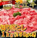 【ふるさと納税】厳選 近江牛 切り落とし 250g ×4 b...