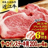 Y101【ふるさと納税】カネ吉特選ステーキサーロイン用200g×4枚