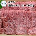 【ふるさと納税】近江牛焼肉カルビ、ロース 600g【滋賀県守山市】