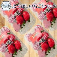 【ふるさと納税】よつぼしいちご4パック