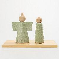 【ふるさと納税】信楽焼陶雛人形いわいhina(グリーン)hina-02