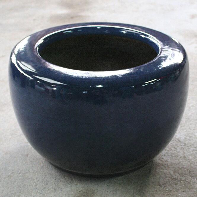 【ふるさと納税】信楽焼 生子火鉢 13号 伝統の火鉢 生子 深みのある青 (9128-06)