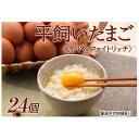 【ふるさと納税】平飼い卵(弥平&ファイトリッチ)24個 湖南市野菜で育った鶏の栄養豊富な卵 【卵】