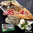 【ふるさと納税】大きな大きなアジ一夜干し (大:35cm程) 【魚貝類・干物・アジ】