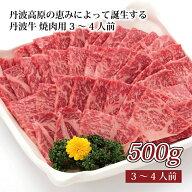 【ふるさと納税】丹波高原の恵みによって誕生する丹波牛焼肉用3〜4人前