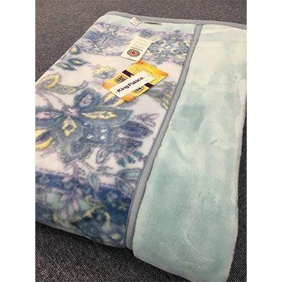 【ふるさと納税】日本製 アクリル マイヤー毛布 シングル ブルー 1枚(新合繊合わせ毛布)1631[0448]