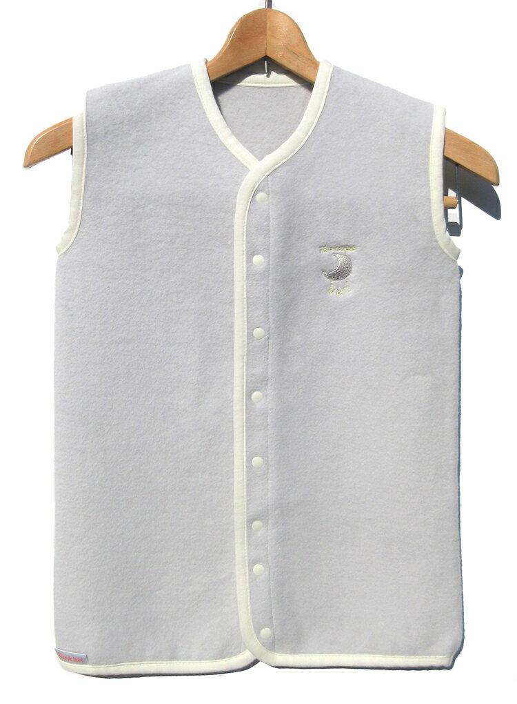 【ふるさと納税】綿毛布スリーパー (Mサイズ) 2way仕様で暖か スカイグレー×ホワイト 毛布の町 (泉大津産)[1203]