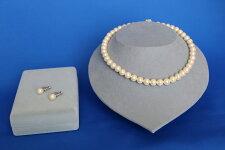【ふるさと納税】いずみパール9mmネックレス9mmイヤリング2点セット(ホワイト)簡易箱