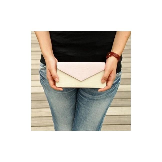 【ふるさと納税】本革レディース財布ベージュ+ブラウン