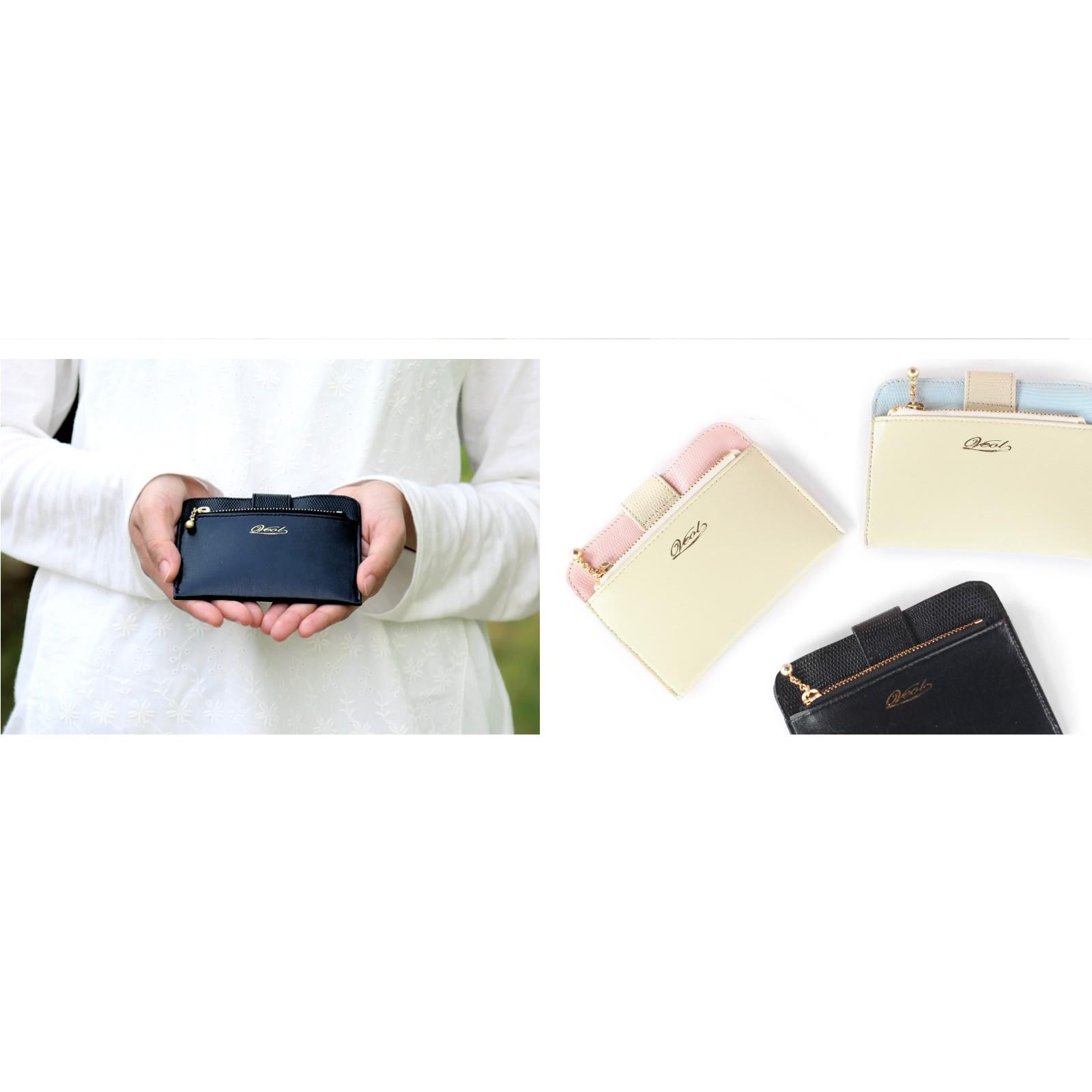 【ふるさと納税】本革ミニ財布 ブラック