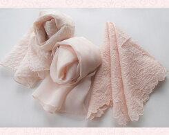 【ふるさと納税】No.012さくら染めシルクスカーフ&刺繍はんかちセット