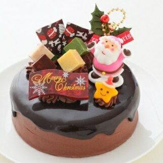 【ふるさと納税】2021 クリスマスケーキ ドリップ クリスマス チョコケーキ 5号 ホール型 _0N36