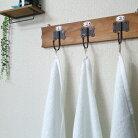 【ふるさと納税】純白バスタオル3枚セットループ付き泉州産