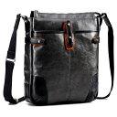 【ふるさと納税】豊岡鞄 帆布PU×皮革ショルダー(24-128)ブラック / カバン かばん バック