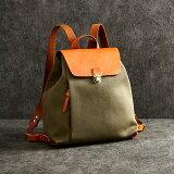 【ふるさと納税】リュック 豊岡鞄 エルダー リュック(カーキ) / カバン かばん バッグ