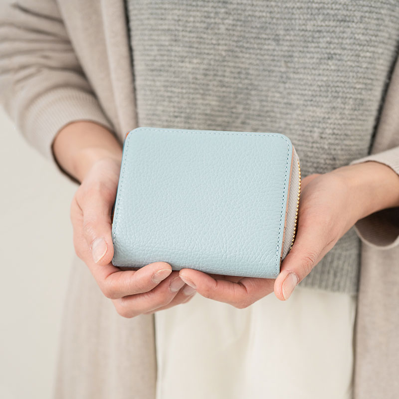 【ふるさと納税】豊岡財布 TUTUMU ITA Z compact Wallet (SW201)スカイ/ カバン かばん