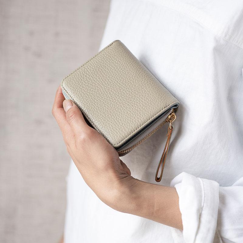 【ふるさと納税】豊岡財布 TUTUMU ITA Z compact Wallet (SW201)グレー/ カバン かばん