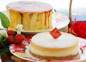 【ふるさと納税】とりいさん家の芋ケーキ3号サイズ&caramelチーズケーキ