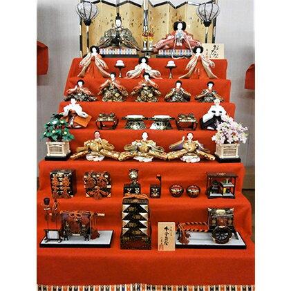 雛人形 京九番親王7段15人毛氈飾り イメージ