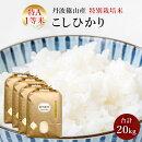 【ふるさと納税】お米のおいしさ伝えたい!特別栽培米コシヒカリ5kg×4