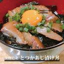 【ふるさと納税】【若男水産】とつかあじ漬け丼(3人前)(60g×3P)