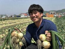 【ふるさと納税】原田さんちの中嶋農法で作られた淡路島玉ねぎ10kg