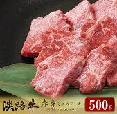 【ふるさと納税】淡路牛赤身ミニステーキ計500g(250g×2パック)