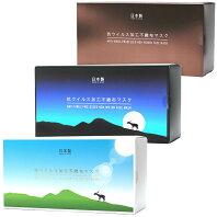 【ふるさと納税】抗ウイルス加工不織布マスク [箱デザイン/青空、夜空、銅] 日本製 25枚入りx3箱