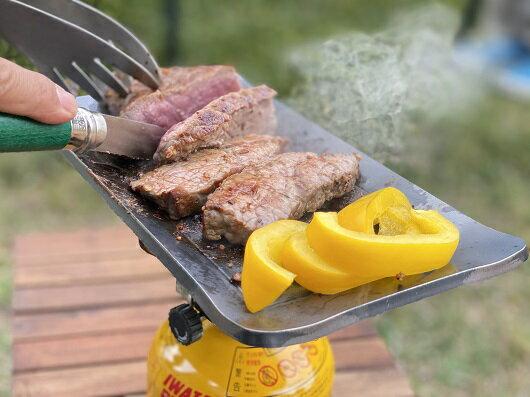 極厚鉄板 ソロ/アウトドアグッズ キャンプ用品 OUTDOOR BBQ 登山用品 ピクニック ソロキャンパー