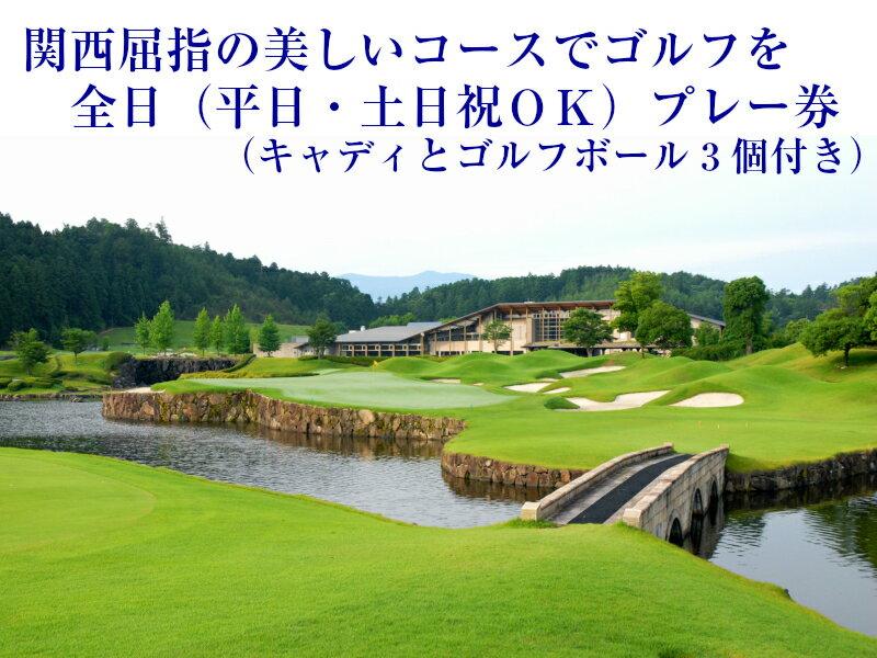 【ふるさと納税】全日プレー券(キャディ付)1名様分:奈良県吉野町