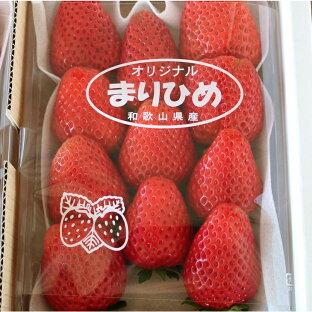 【ふるさと納税】自農園産 和歌山県オリジナルいちご『完熟まりひめ』大粒3パックの画像