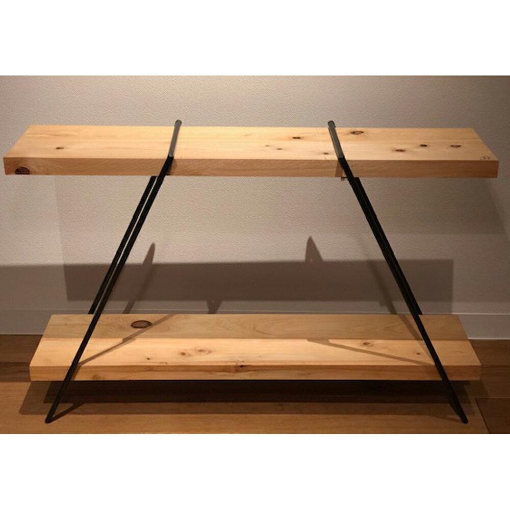 【ふるさと納税】BokuMokuあかね材ミニラック(幅100cm×奥行28cm×高さ約65cm)