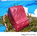 【ふるさと納税】水揚げ高日本一!南紀勝浦産生まぐろ ブロック約1.5Kg