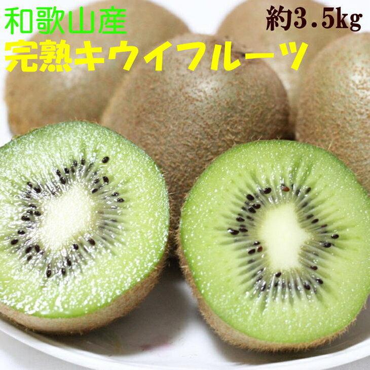 【ふるさと納税】[果物の王様]和歌山産完熟キウイフルーツ約3.5kg(2L・3L・4Lサイズ・個数20個~27個おまかせ)秀品※着日指定不可