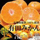 【ふるさと納税】【7kg×2箱】こだわりの有田みかん合計14...