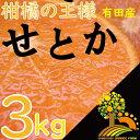 【ふるさと納税】《数量限定》柑橘の王様せとか3kg【3月上旬