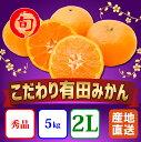 【ふるさと納税】【こだわり】有田みかん 5kg(2Lサイズ指定) 旬の味覚市場