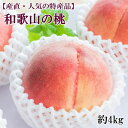 【ふるさと納税】【産直・人気の特産品】和歌山の桃 約4kg・...