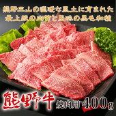 【ふるさと納税】熊野牛焼肉用400g