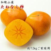 【ふるさと納税】【秋の味覚】和歌山産のたねなし柿ご家庭用約7.5kgサイズ混合