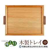 【ふるさと納税】<木の家具工房林工亘>木製トレイ【中】