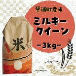 【ふるさと納税】ミルキークイーン(3kg)
